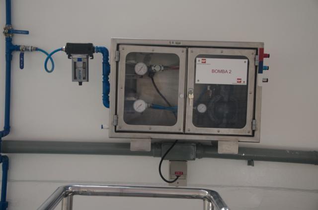 Painel elétrico em aço inox