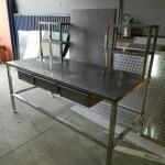 Mesa bancada em aço inox